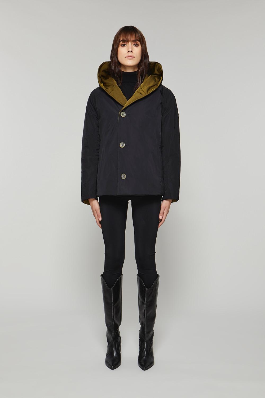 Double face short jacket in woodland / black memory OOF | Jackets | OFJA90067890