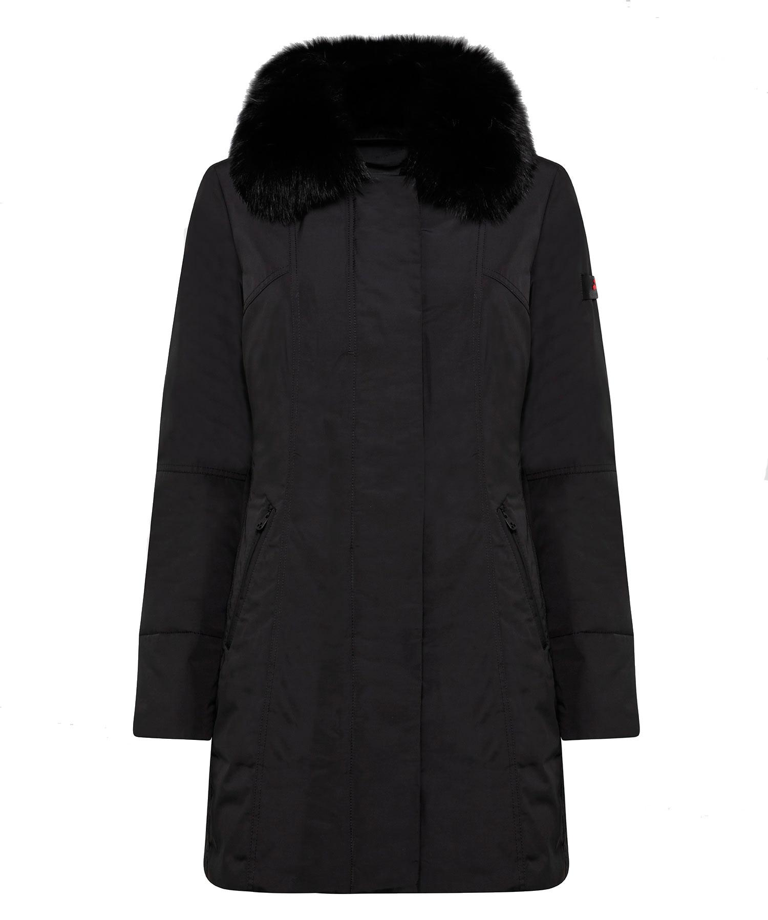 Metropolitan Cappotto slim fit con pelliccia PEUTEREY | Cappotti | PED3617NER