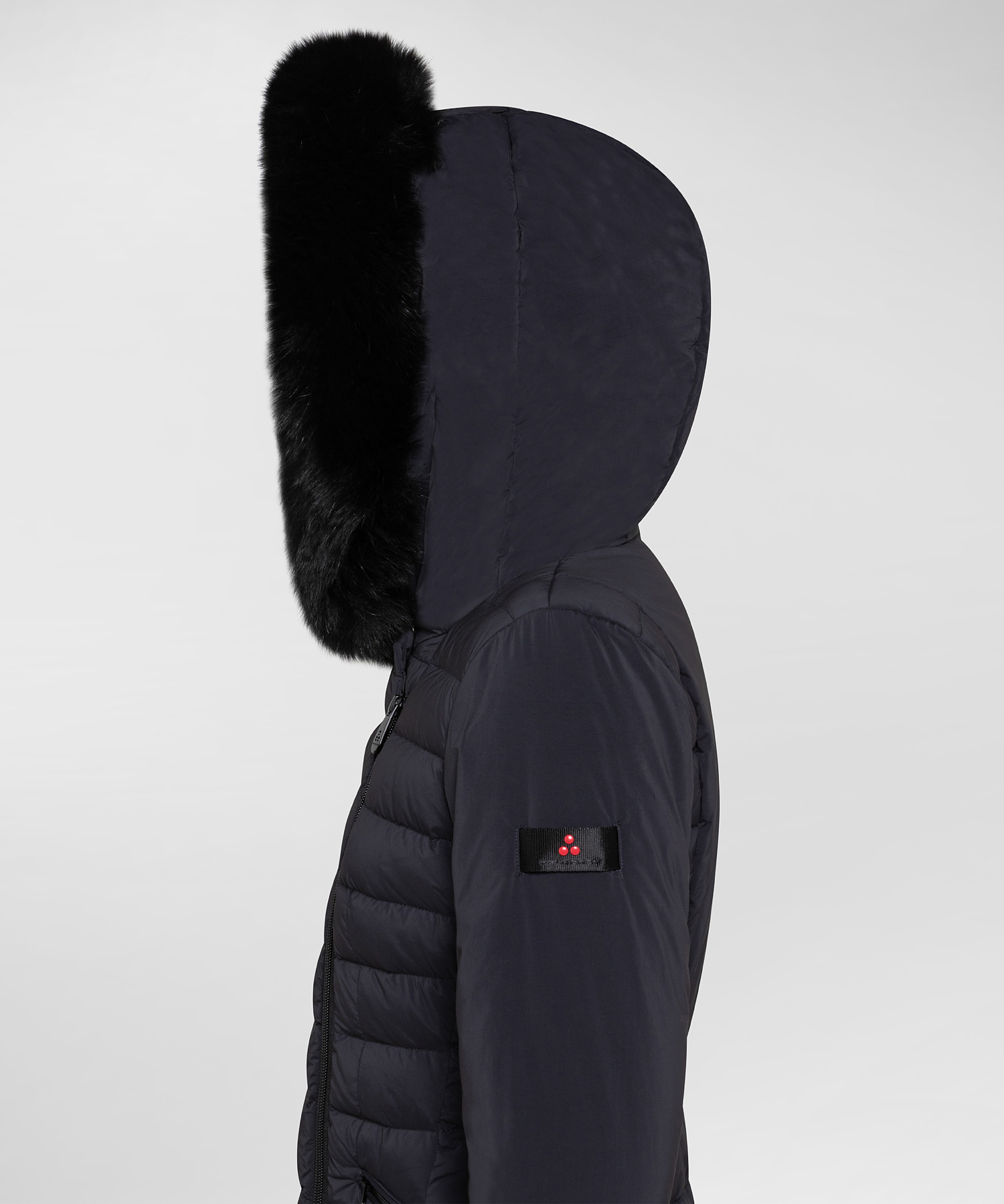 seriola fur Slim fit down jacket with fur PEUTEREY   Coat   PED3657720
