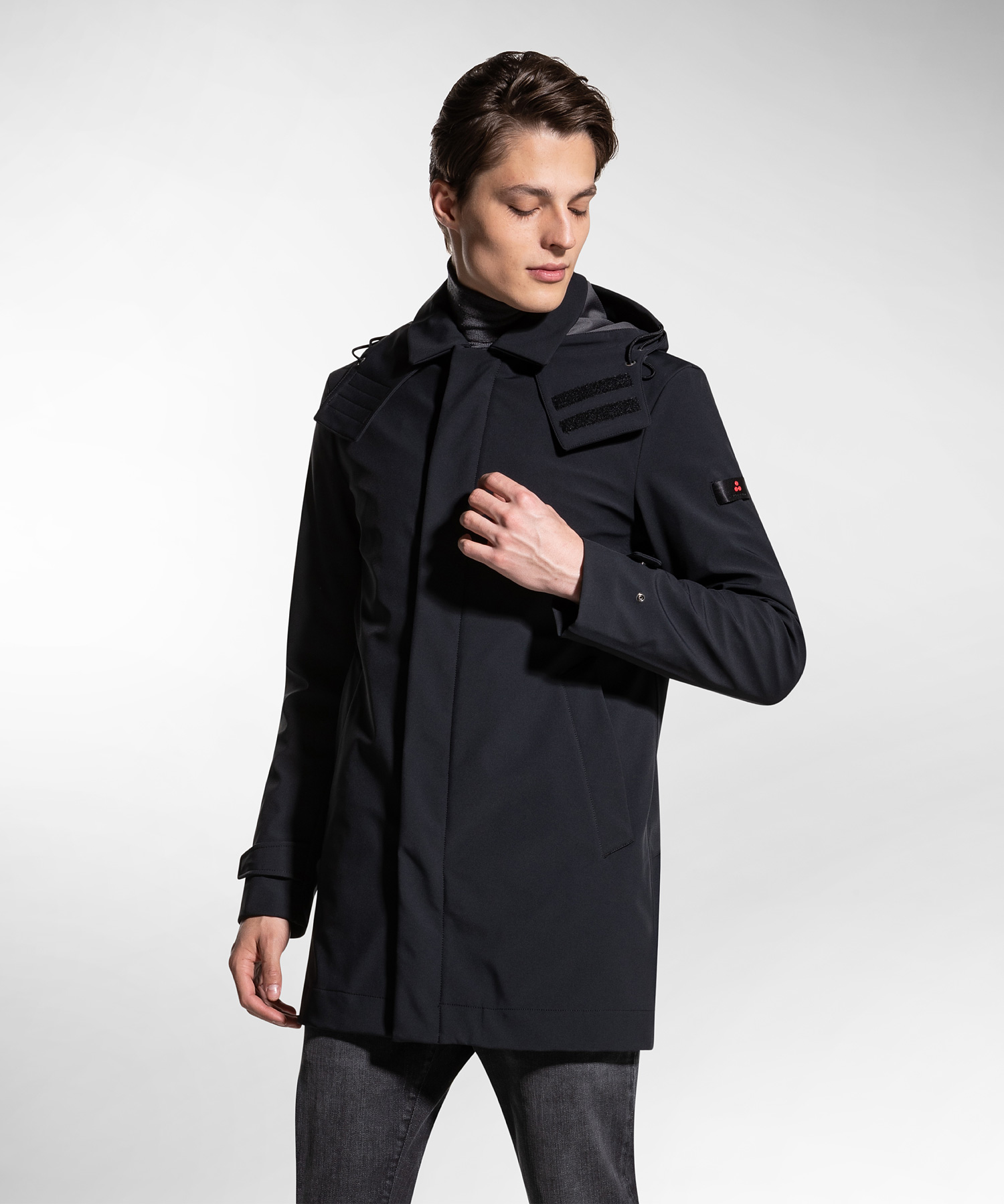 Groff kp - trench coat in padded technical fabric PEUTEREY | Coat | PEU3310NER