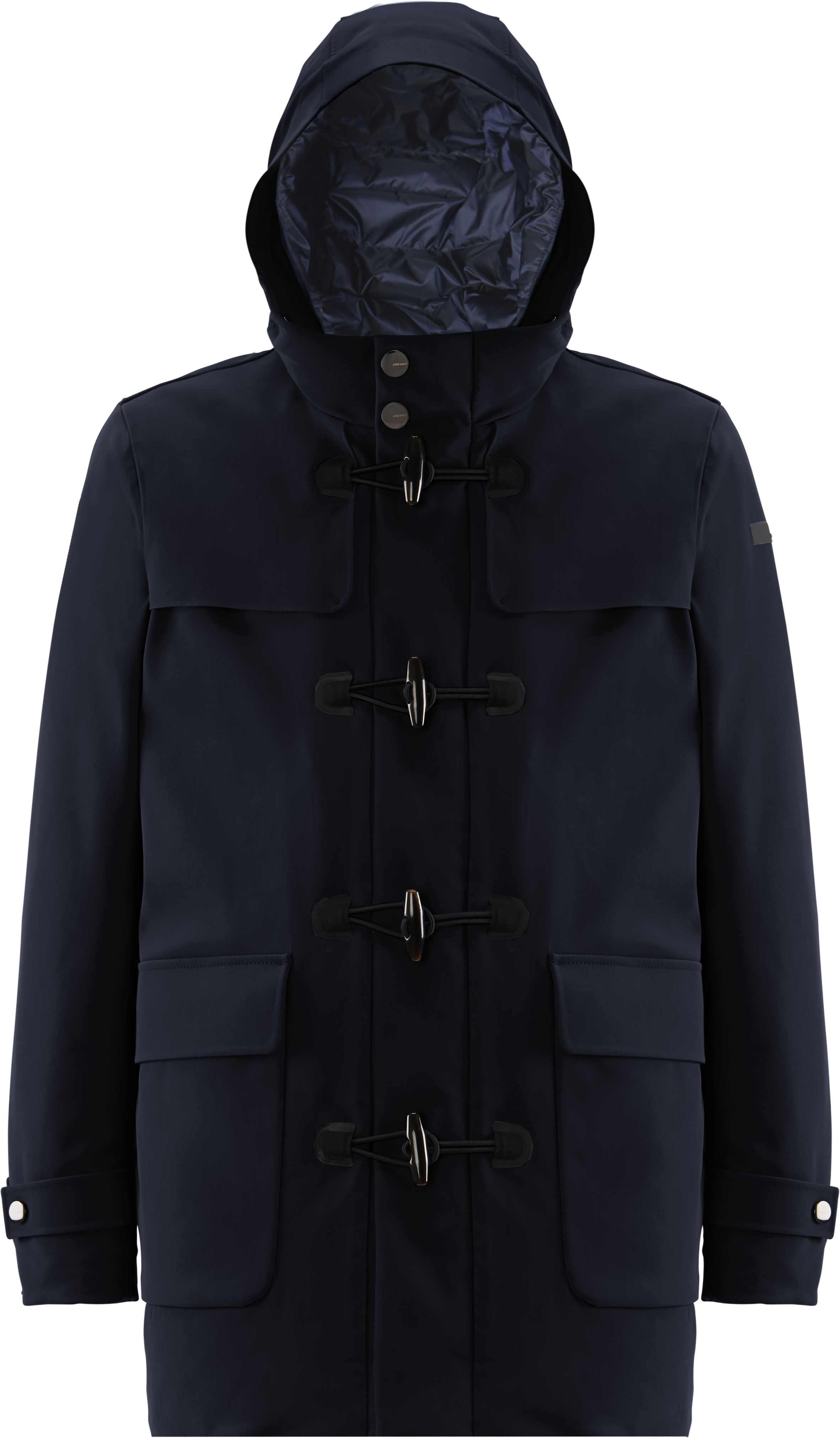 Winter Montgomery in tessuto tecnico blu RRD | Cappotti | 2000660