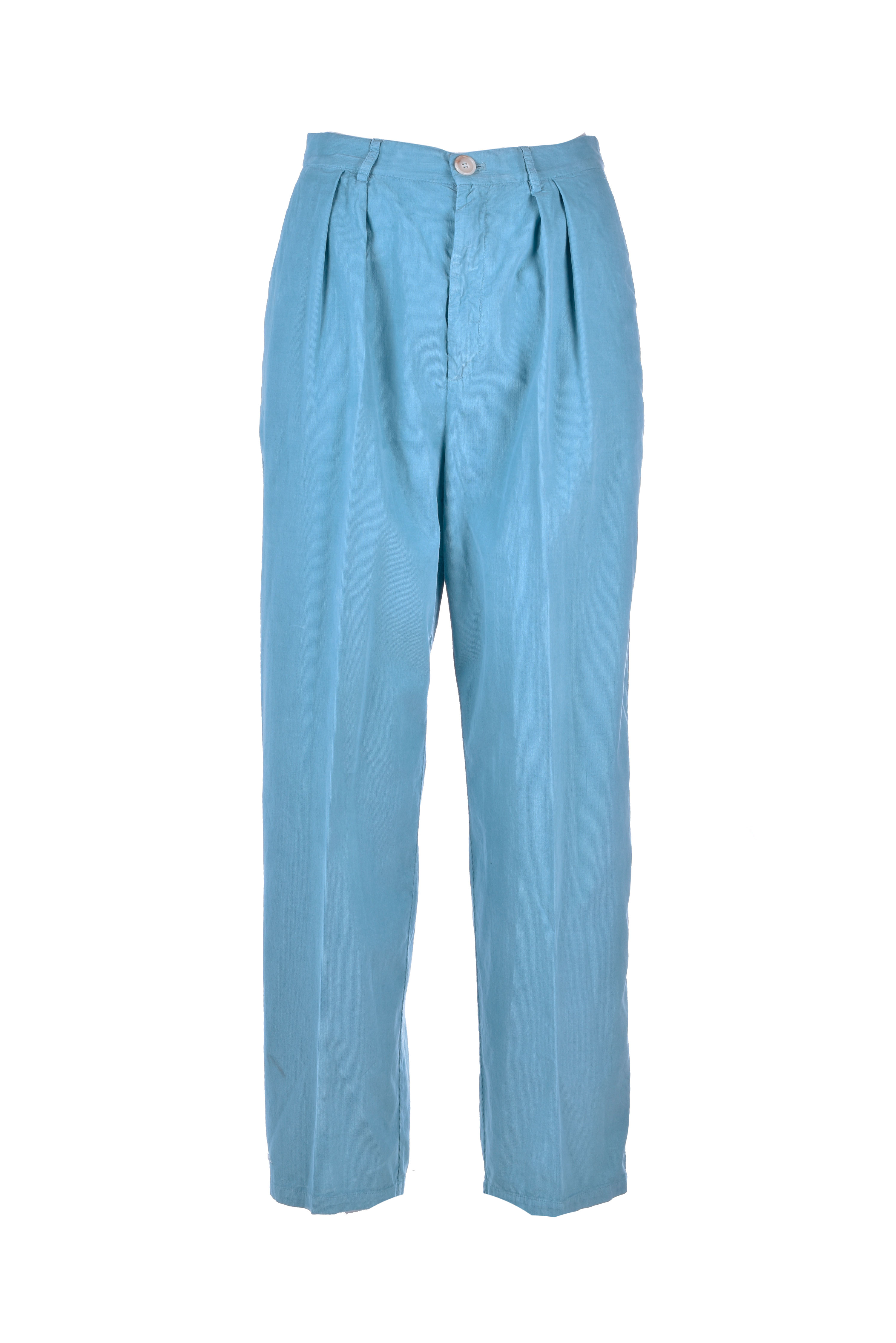 Constan high-waisted micro-ribbed trousers SEMICOUTURE   Pants   Y0WR03O84-0