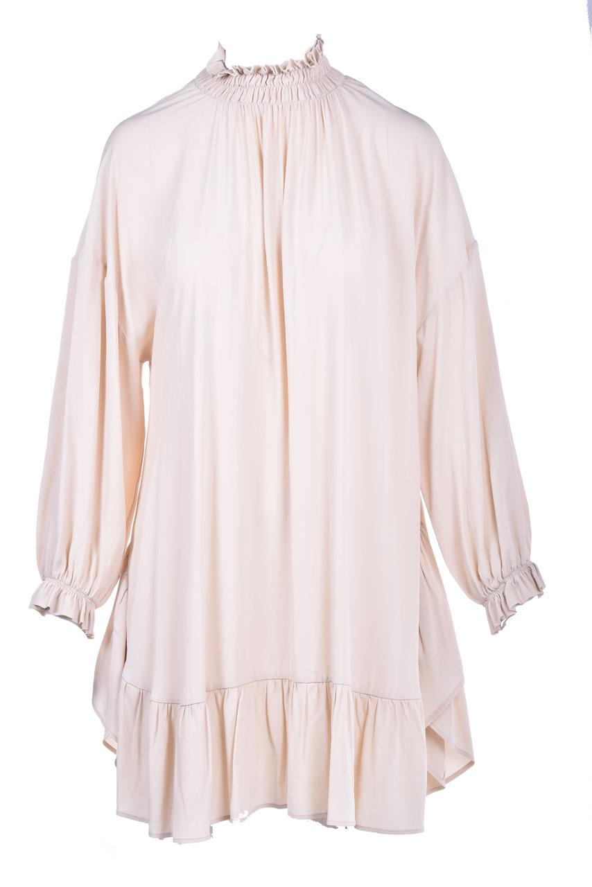 Short dress in crepe de chine meringue SEMICOUTURE   Dresses   Y0WU09A41-0