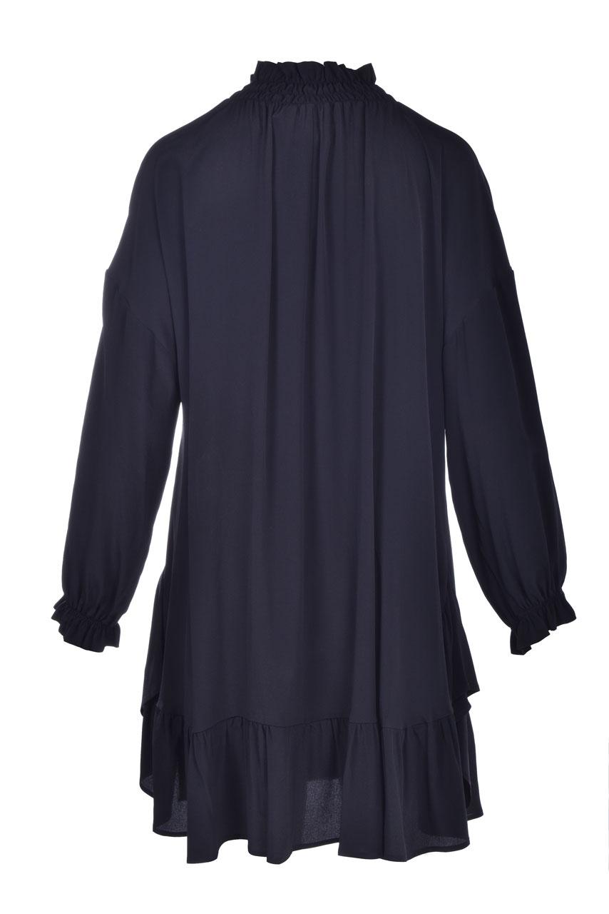 Short dress in black crepe de chine SEMICOUTURE |  | Y0WU09Y69-0
