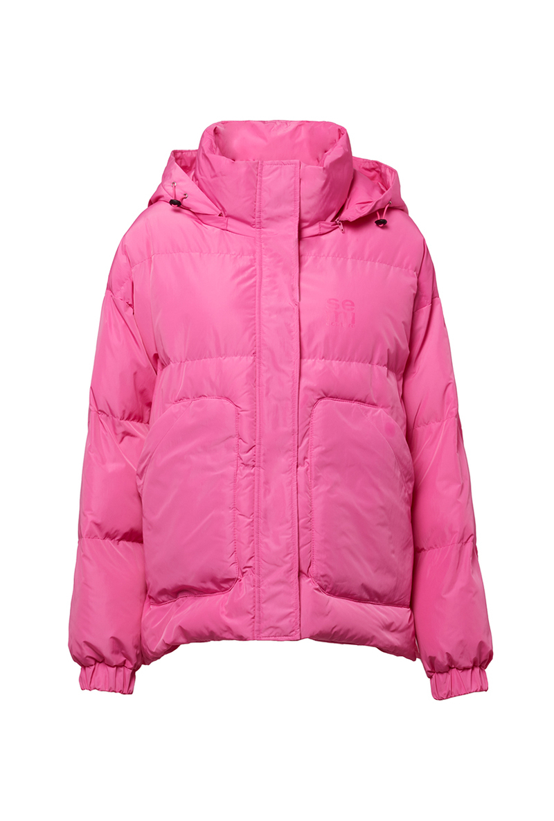 Piumino corto imbottito rosa acceso SEMICOUTURE   Giubbini   Y0WW05G22-0
