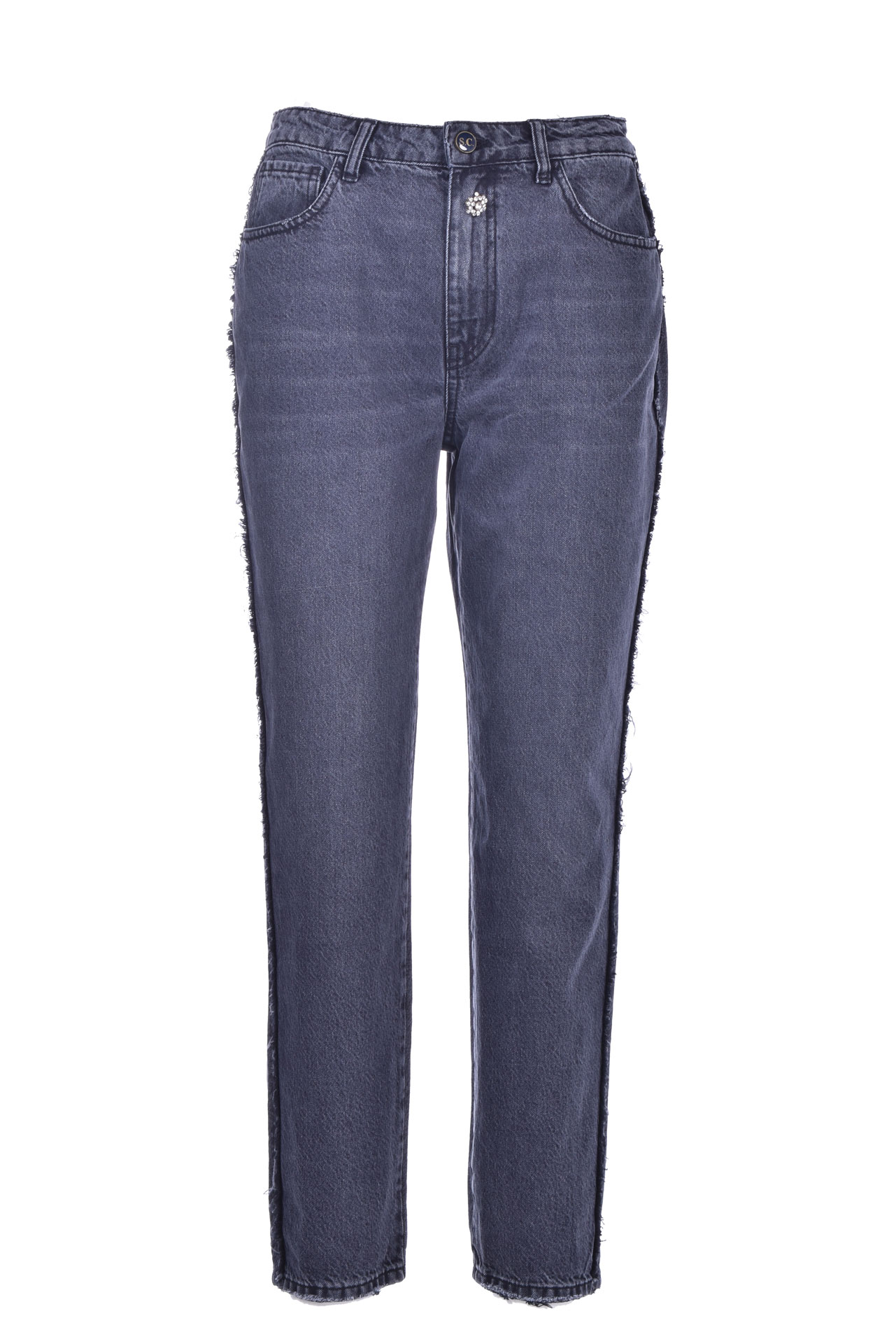 Cotton bull jeans with jewel SEMICOUTURE | Jeans | Y0WY05JNS17