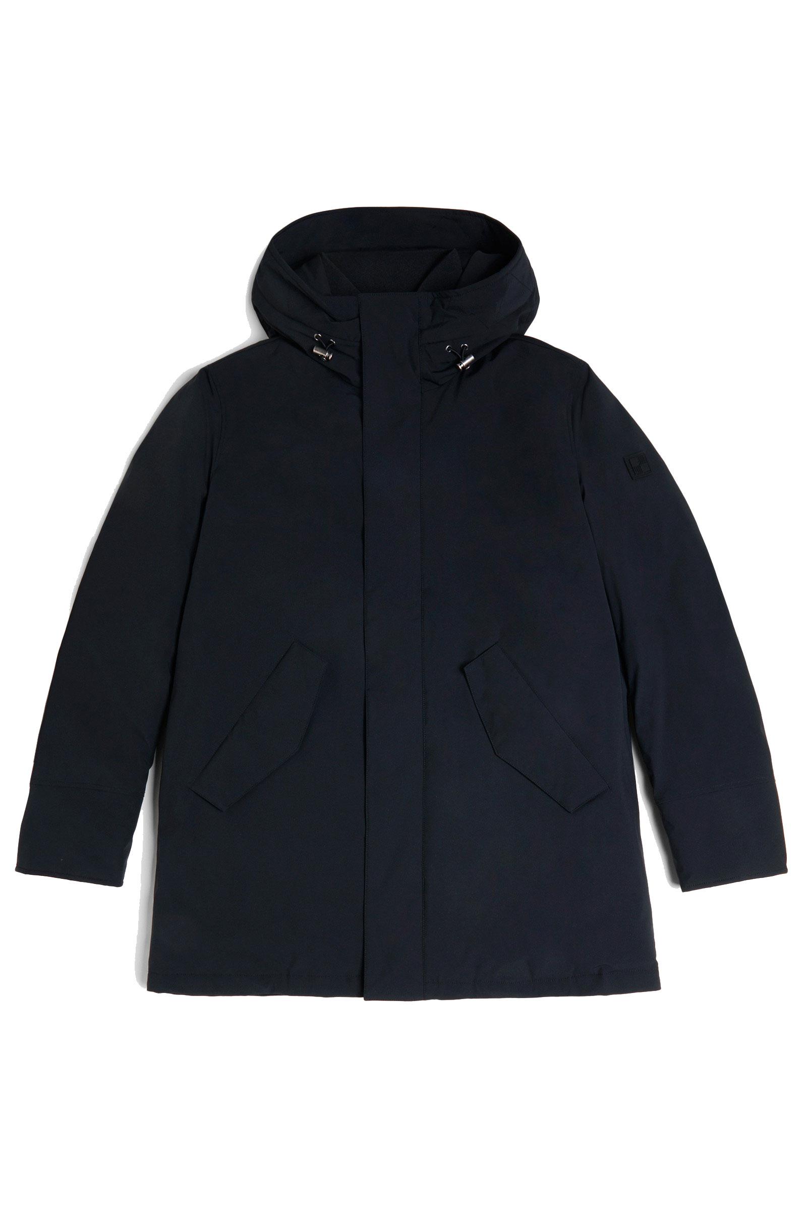 Black stretch mountain parka WOOLRICH | Overcoat | WOOU0268MR-UT0102100