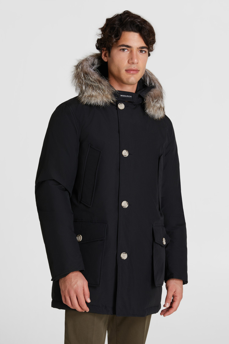 Artic parka con pelliccia removibile - nero WOOLRICH | Cappotti | WOOU0270MR-UT0108NBL