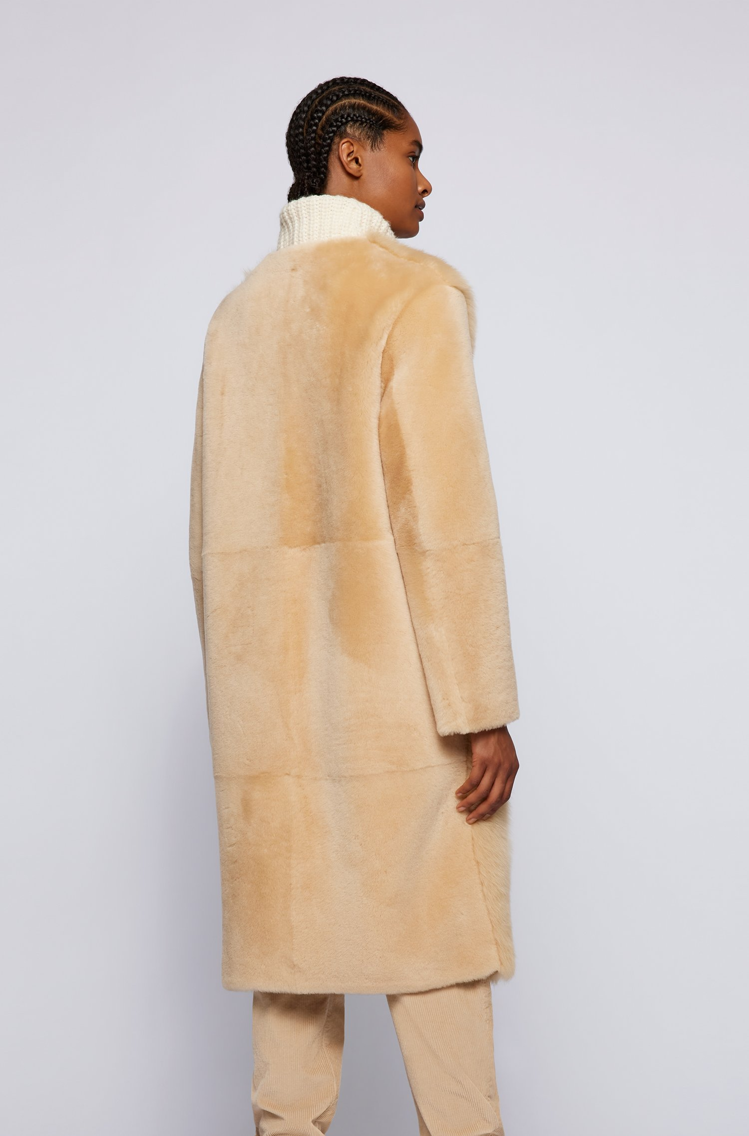 Cappotto relaxed fit in shearling di diverse lunghezze BOSS | Cappotti | 50457092277
