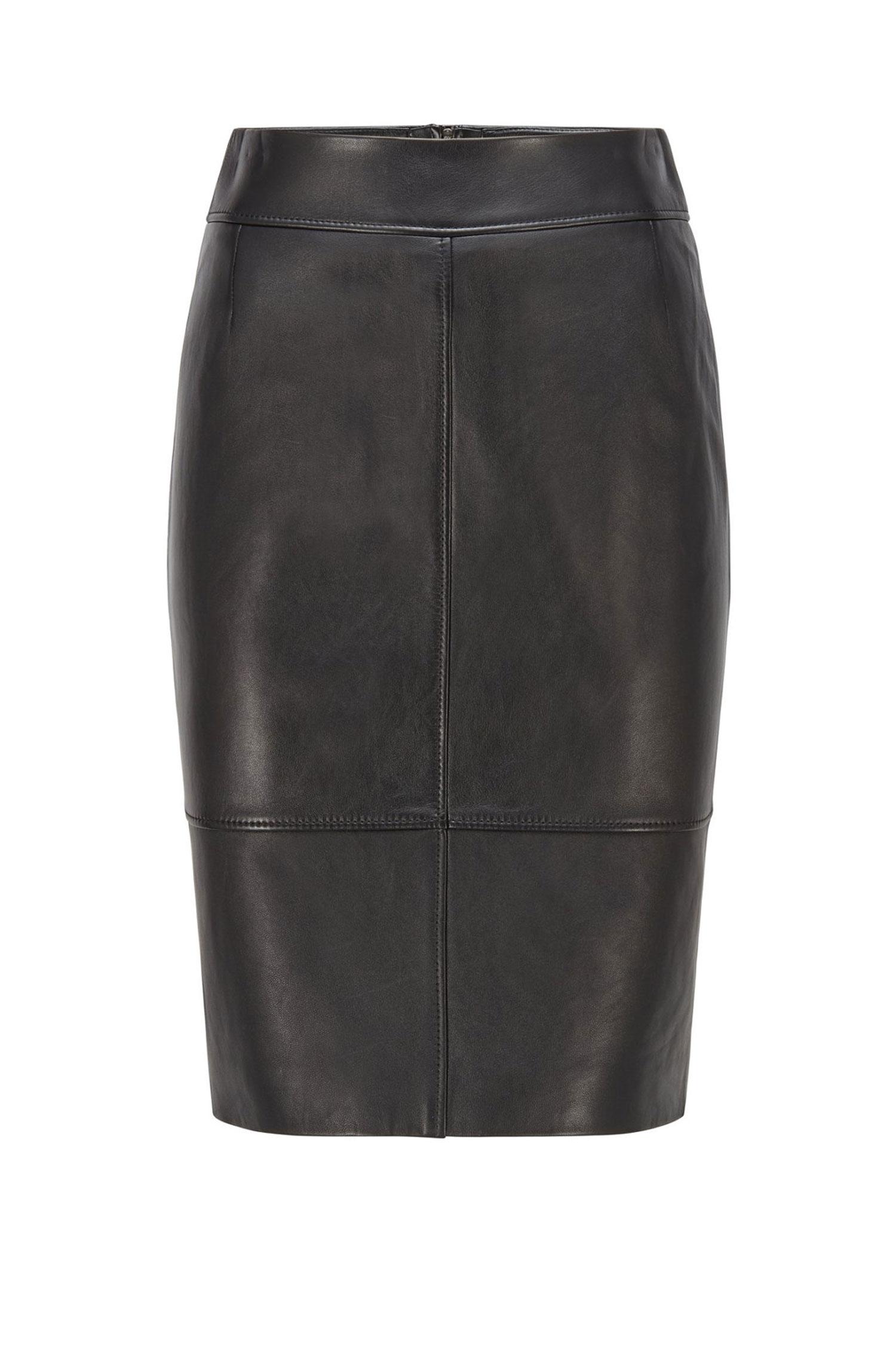 Black leather pencil skirt BOSS | Skirts | 50457102001