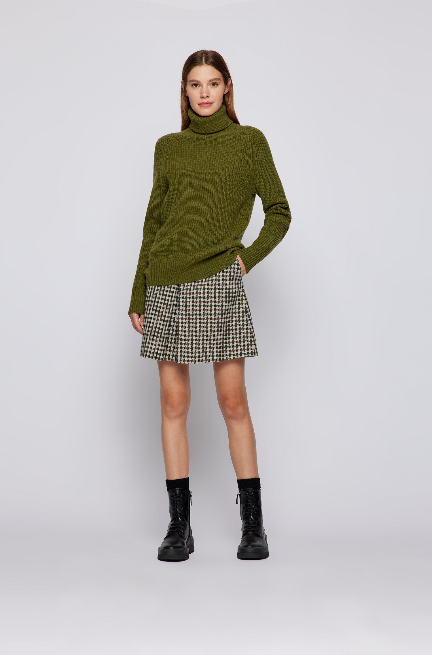 Short flared skirt in checked twill BOSS | Skirts | 50457512962