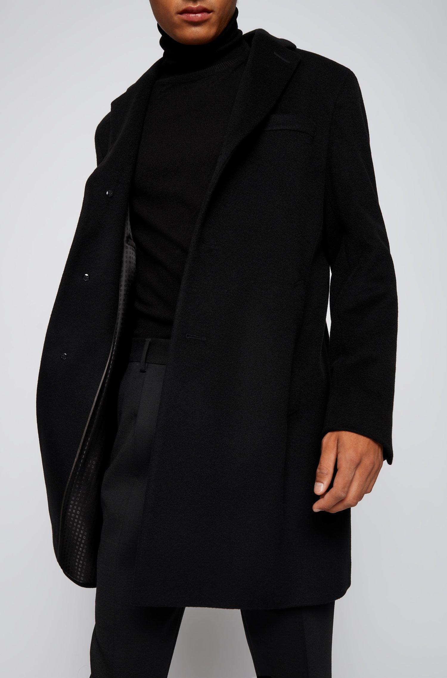 Slim fit coat in virgin wool with cashmere BOSS | Overcoat | 50459022001