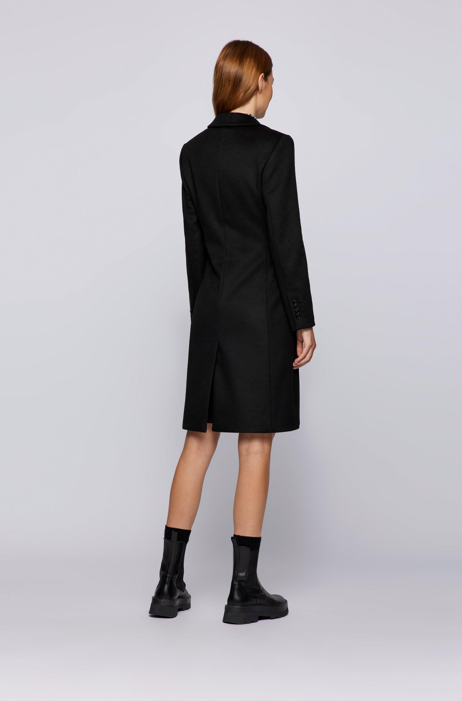 Slim fit coat in virgin wool with cashmere BOSS   Overcoat   50459405001