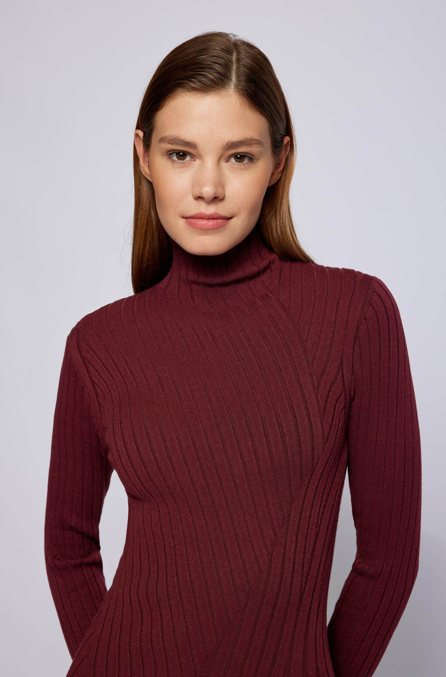 Vestito lungo in maglia con lavorazione a coste BOSS | Vestiti | 50461770602