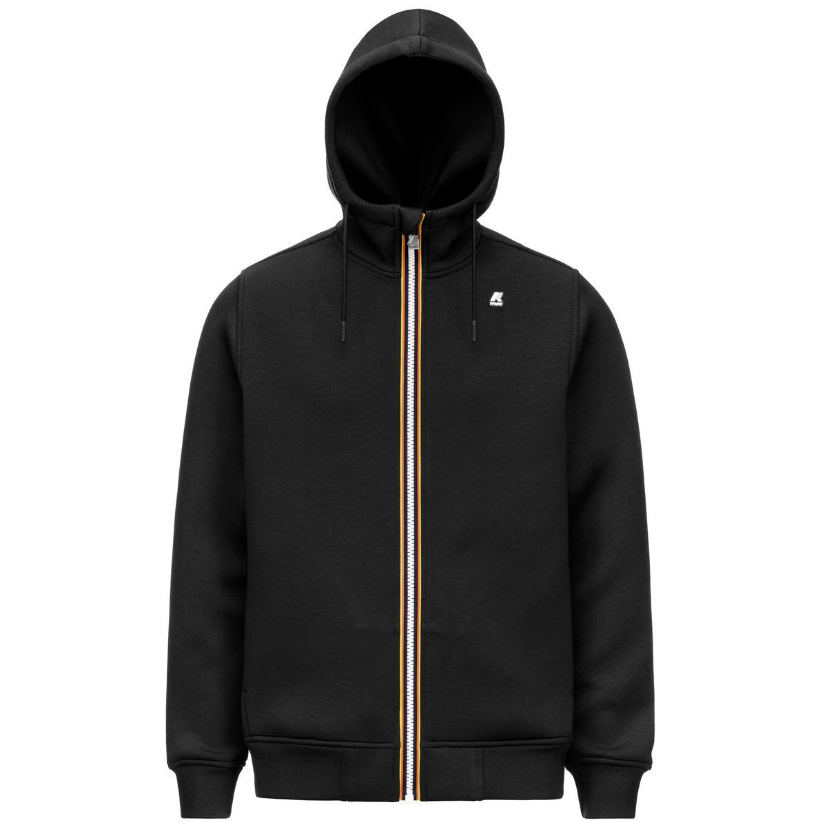 Rainer spacer black hooded sweatshirt K-WAY   Sweatshirt   K21171WUSY
