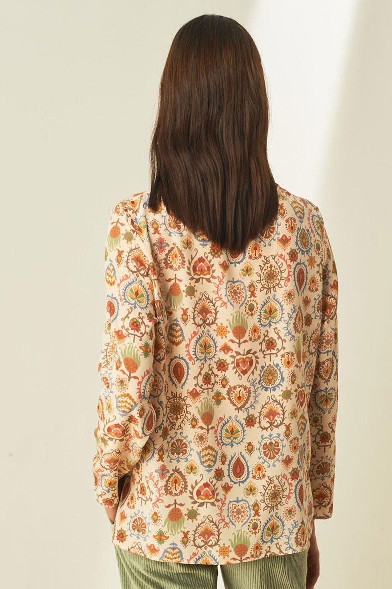 Printed pure silk crepe blouse MOMONI | Blouses | MOBL0021175