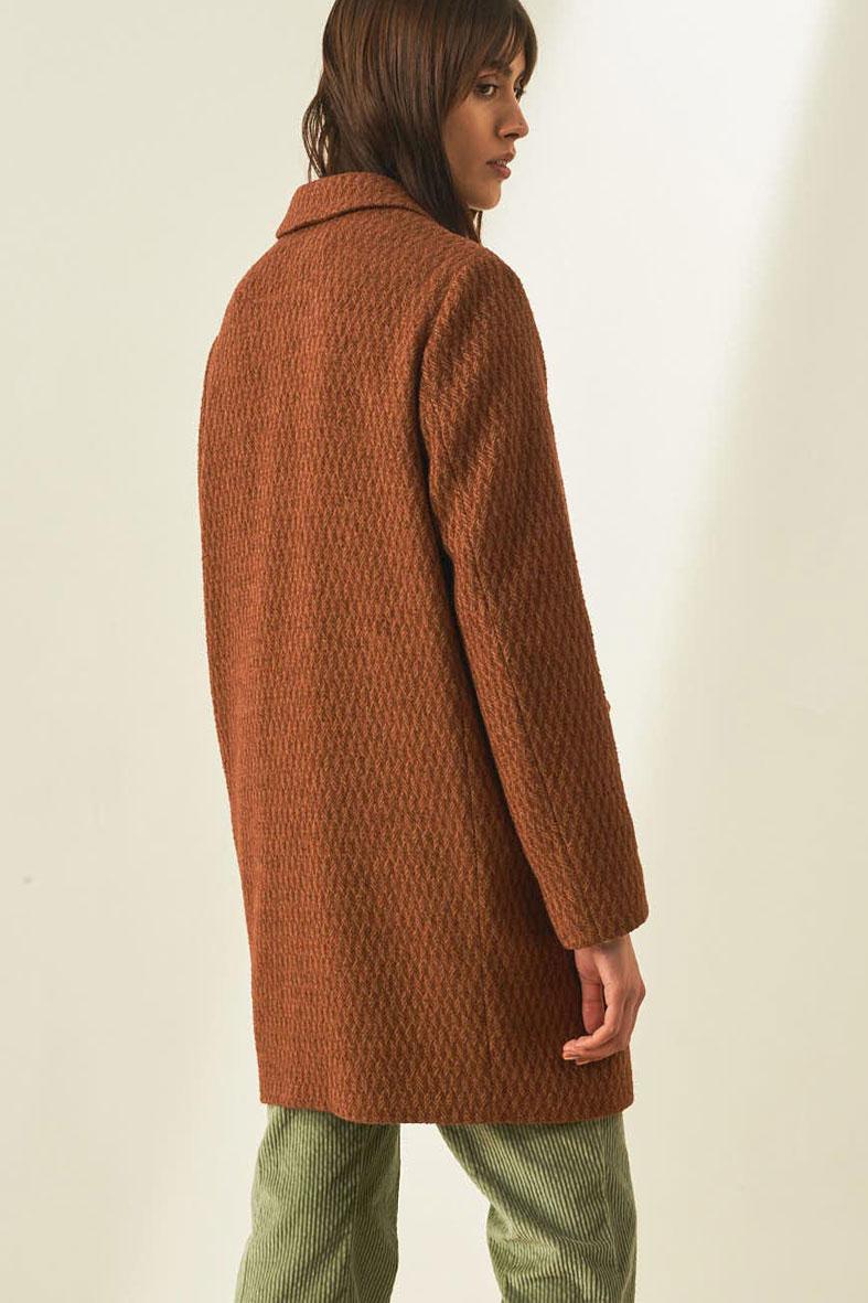 Cappotto in microresca bouclè di lana e cotone MOMONI | Cappotti | MOC00020660