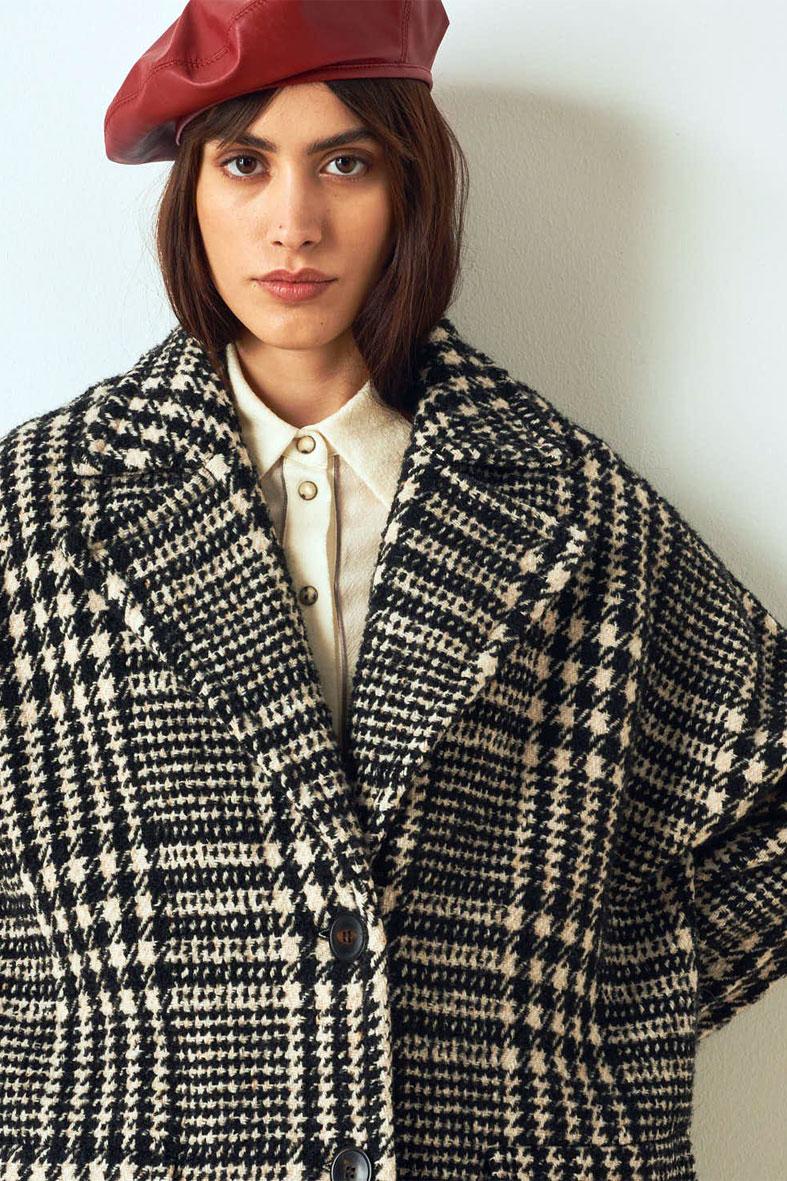 Cappotto in check di lana bicolore MOMONI   Cappotti   MOC00071010