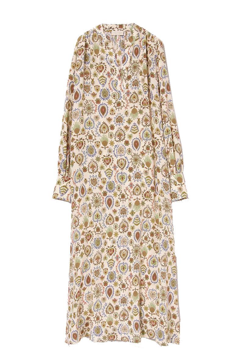 Abito ampio in crepe de chine di seta stampata MOMONI | Vestiti | MODR0061175