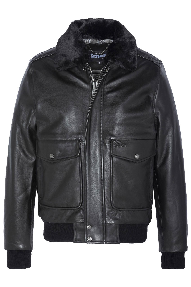 A-2 Flight jacket LC5331ZX - Leather jacket vintage look SCHOTT N.Y.C | Jackets | LC5331XBLACK