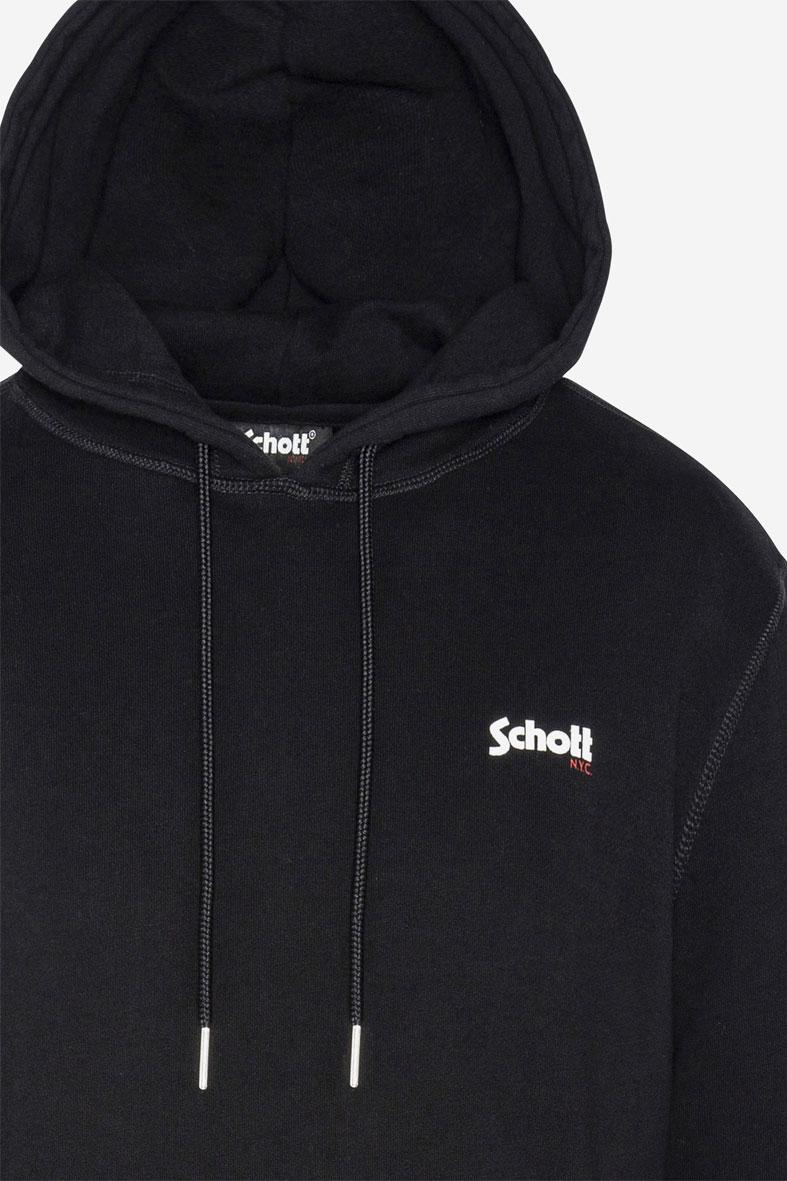 Felpa con cappuccio e logo Schott NYC® SCHOTT N.Y.C | Felpe | SWHOODYBLACK