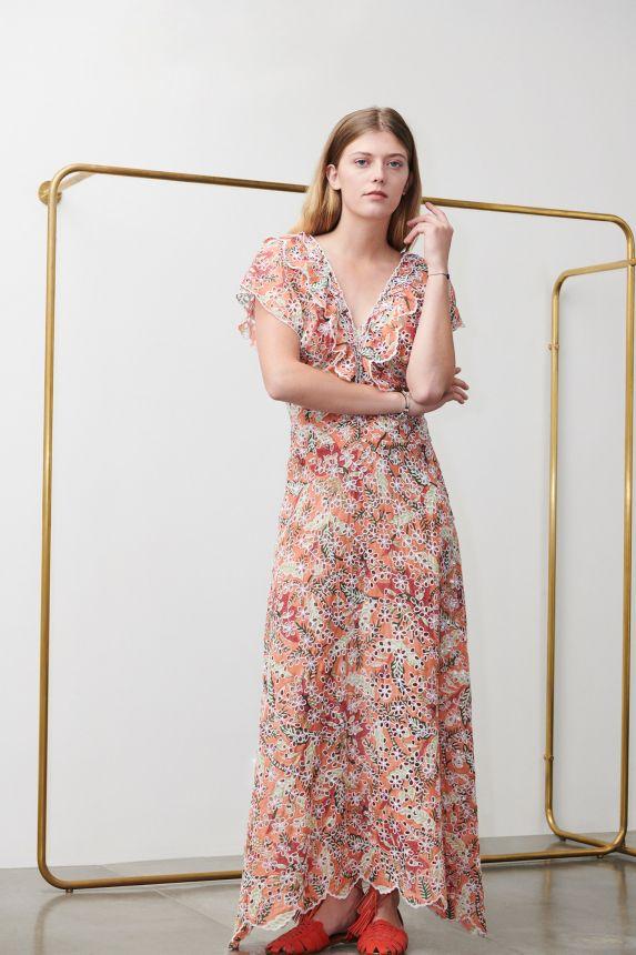 Shiffly Orange Maxi Dress. ANTIK BATIK ANTIK BATIK | Abiti | SHIFFLY1LDRORANGE