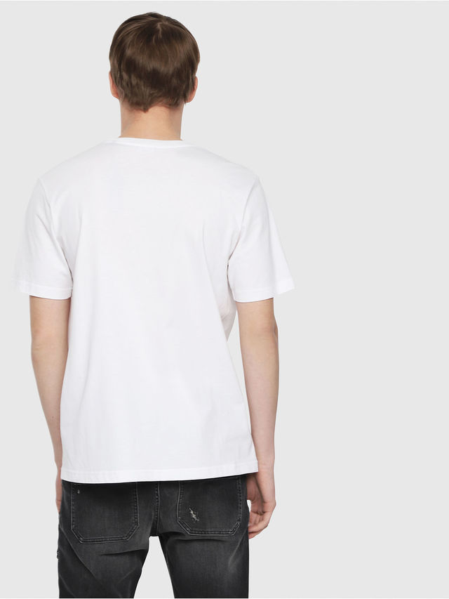 T-shirt with logo and fluo t-just-die details. Diesel DIESEL |  | 00SU2N 0PATI100