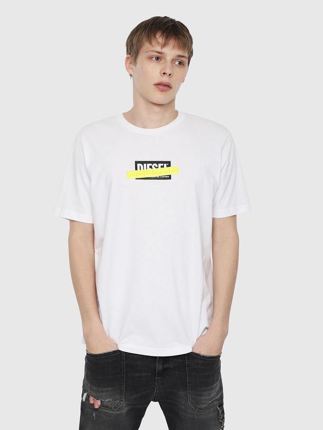 T-shirt with logo and fluo t-just-die details. Diesel DIESEL | Sweaters | 00SU2N 0PATI100
