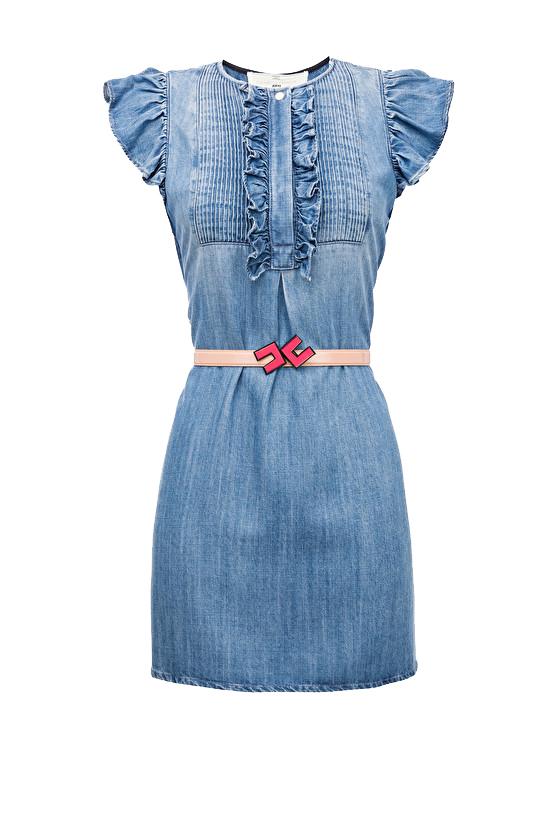 Mini abito in denim ELISABETTA FRANCHI | Abiti | AJ03D91E2139