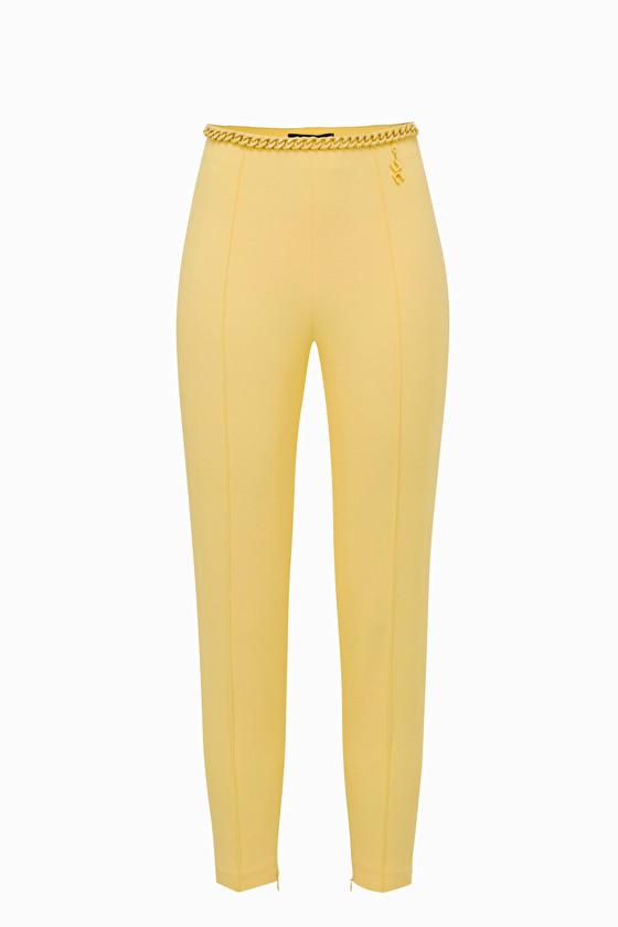 Pantalone skinny con catena. Elisabetta Franchi ELISABETTA FRANCHI | Pantaloni | PA27692E2T79