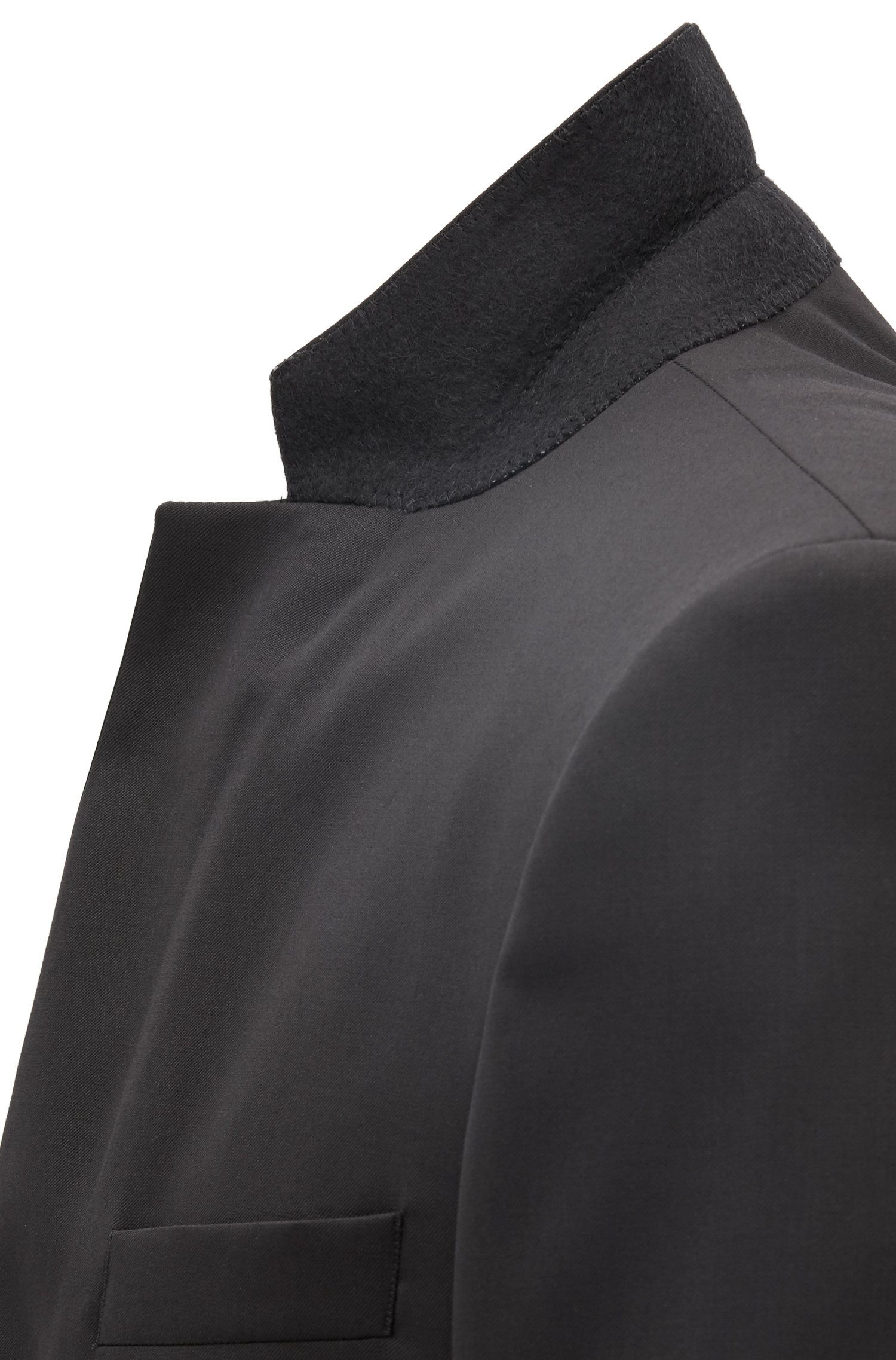 Slim-fit virgin wool jacket with silk details. Hugo Boss HUGO BOSS | Blazers | 50375810001