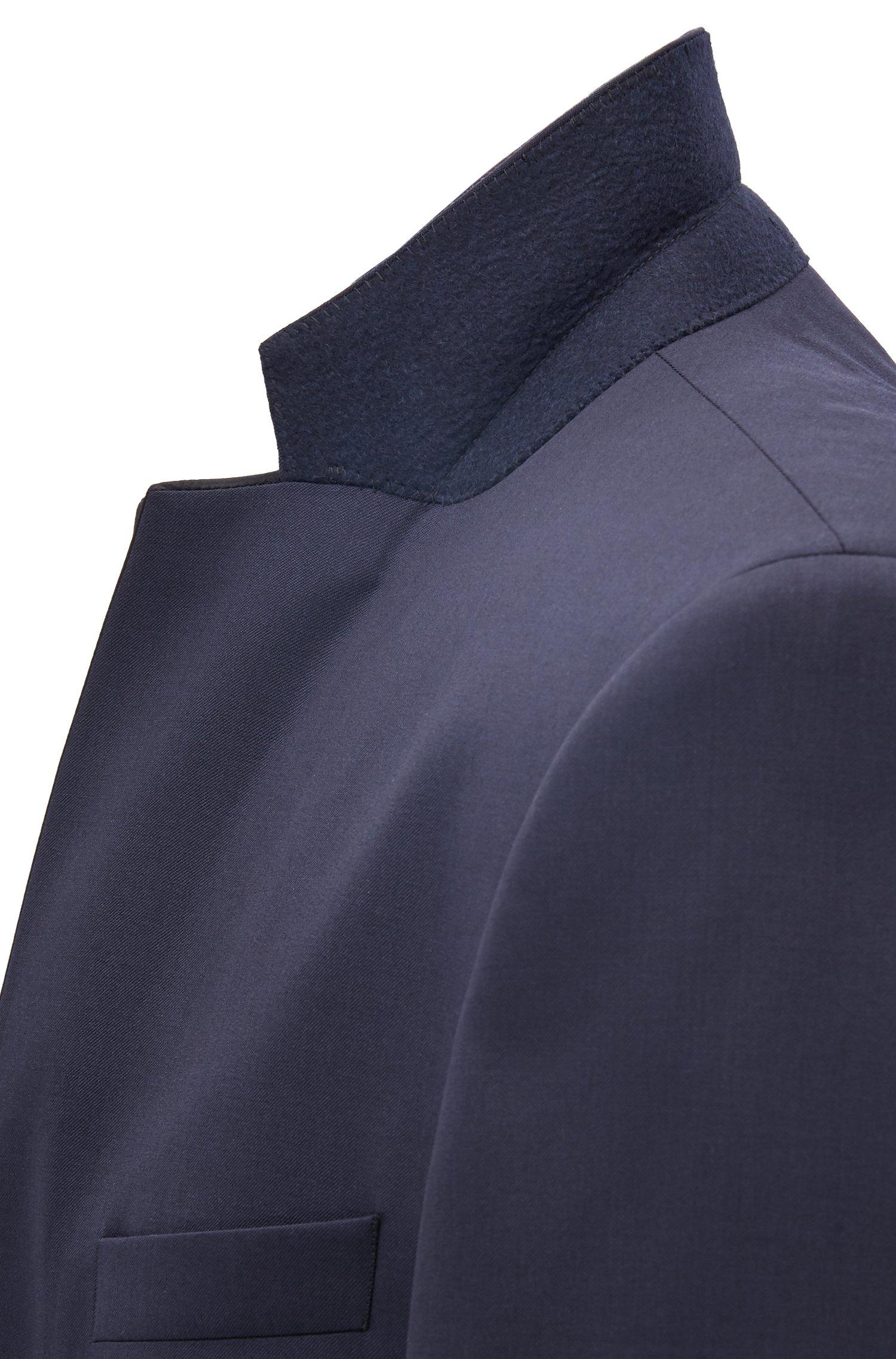 Giacca slim fit in lana vergine con dettagli in seta. Hugo Boss HUGO BOSS  37d36c1d689e