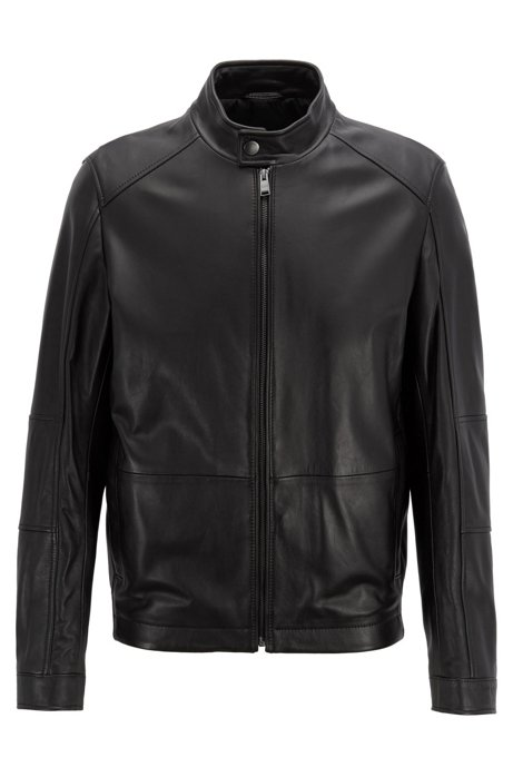 Blouson regular fit in nappa di agnello BOSS | Giubbini | 50398851001