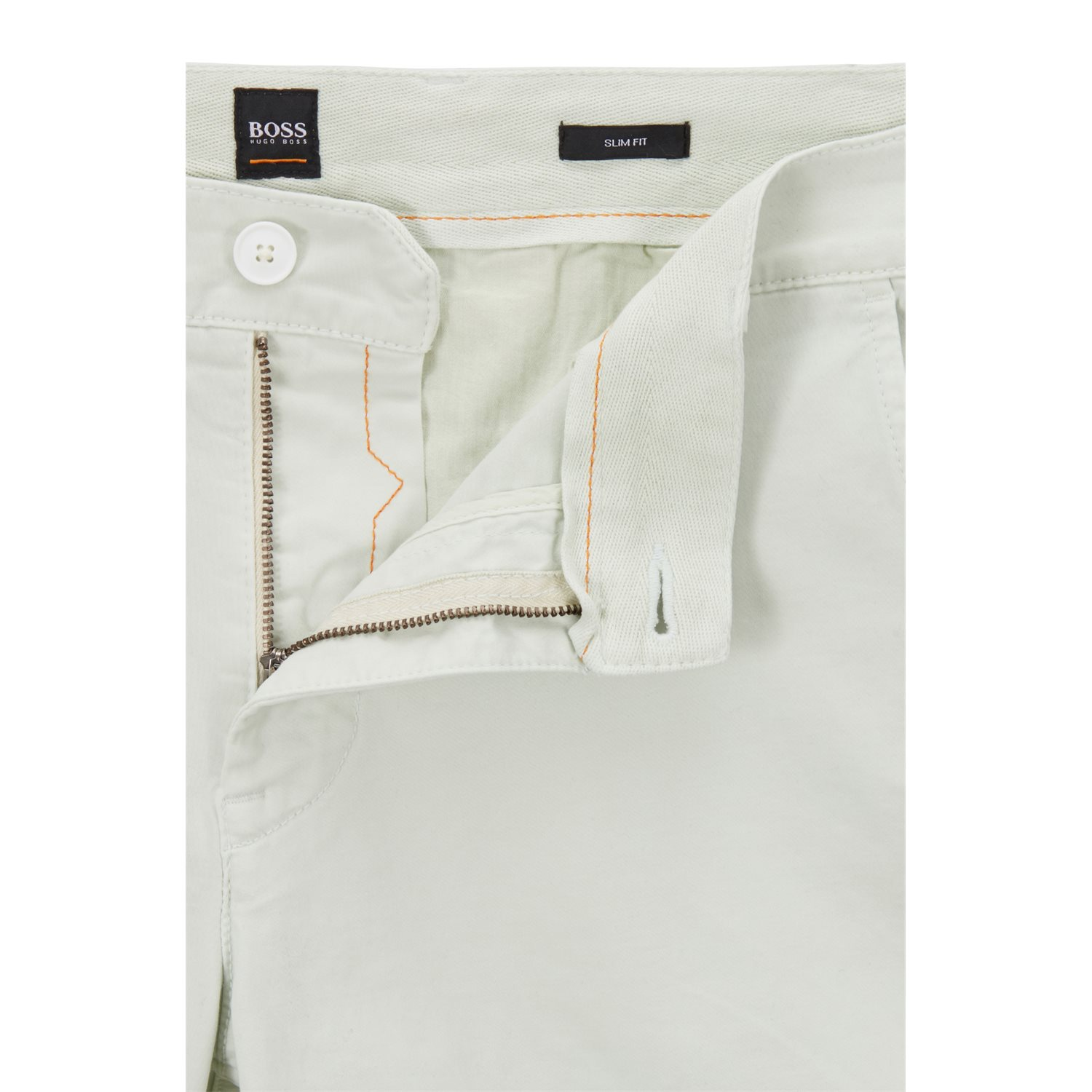 c6e86d234 Slim-fit chino shorts in double-dyed stretch satin HUGO BOSS | Trousers