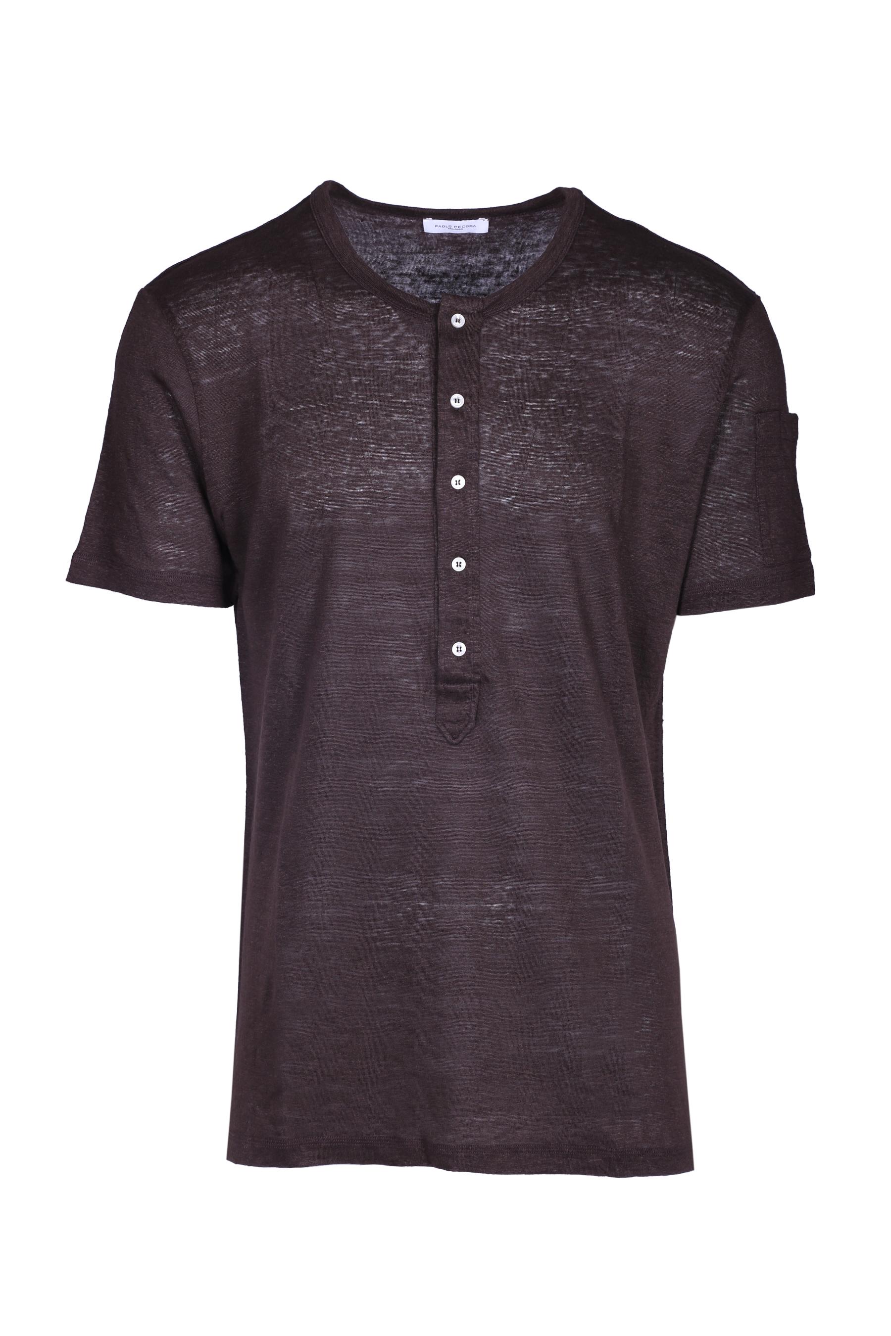 b0450a1121ca Pure linen t-shirt PAOLO PECORA | T-shirts | F111 48482186
