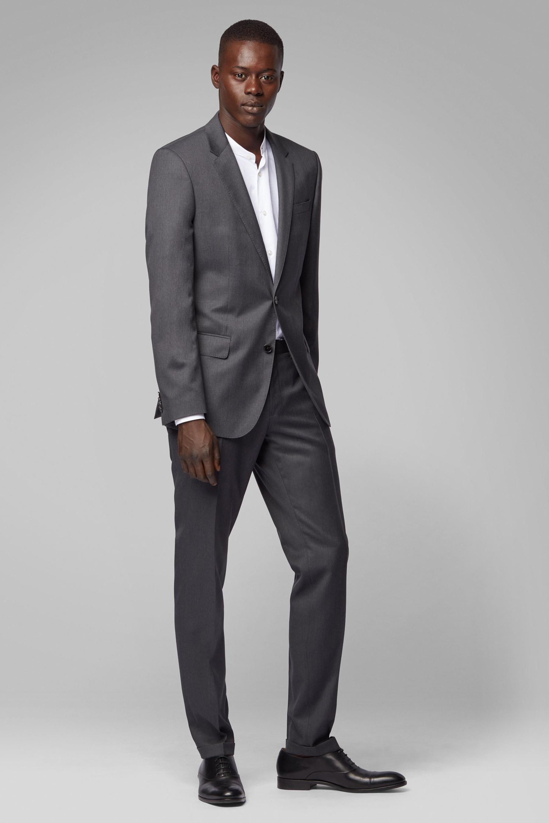 Extra-slim-fit trousers in virgin wool BOSS | Trousers | 50320555021