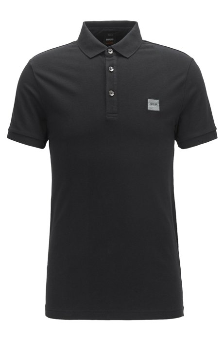 Polo passenger slim fit- nero BOSS | Polo | 50378334001