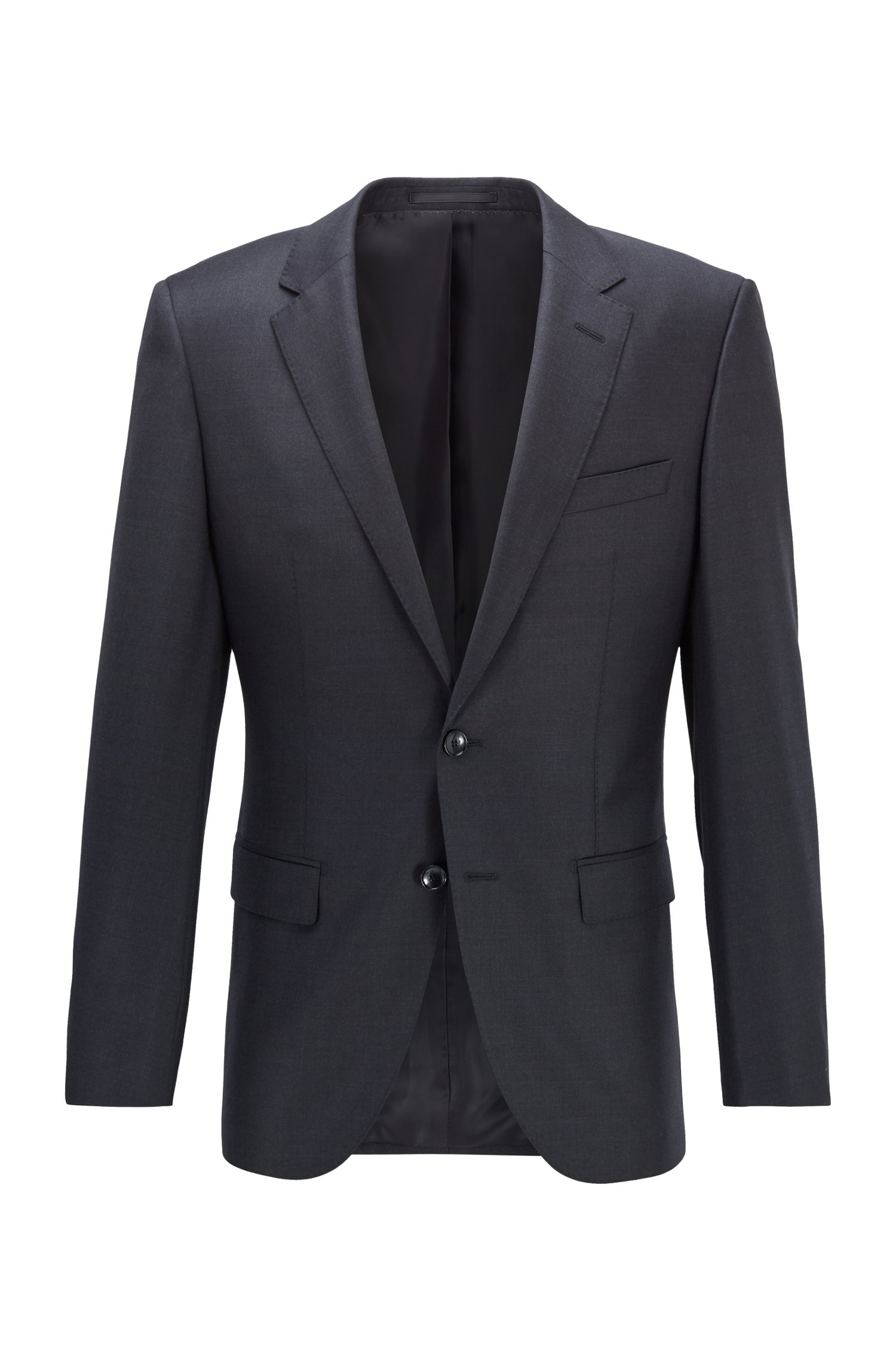 Slim-fit tailored jacket harvers - grey BOSS | Blazers | 50384765061