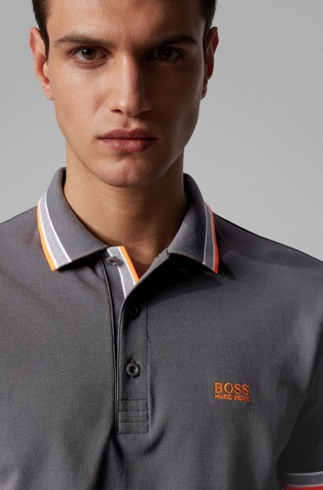 polo paddy regular fit contrast stripes - dark grey BOSS | Polo Shirts | 50398302022