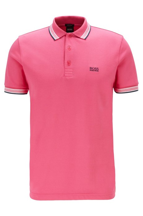 polo paddy regular fit contrast stripes - pink BOSS | Polo Shirts | 50398302660
