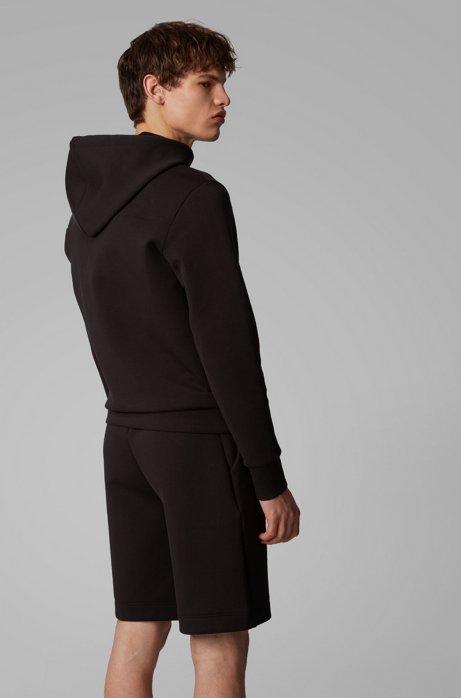 Hooded sweatshirt with layered metallic logo BOSS   Sweatshirt   50423596012