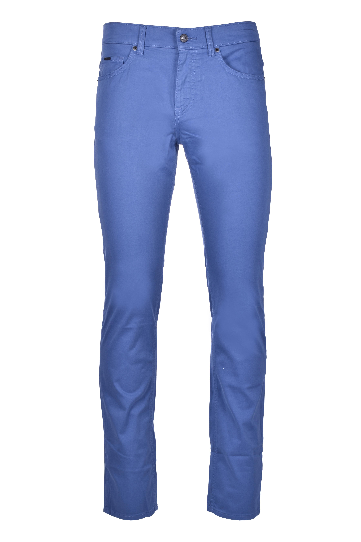 Delaware Jeans slim fit in denim effetto satin - azzurro BOSS | Jeans | 50426629479