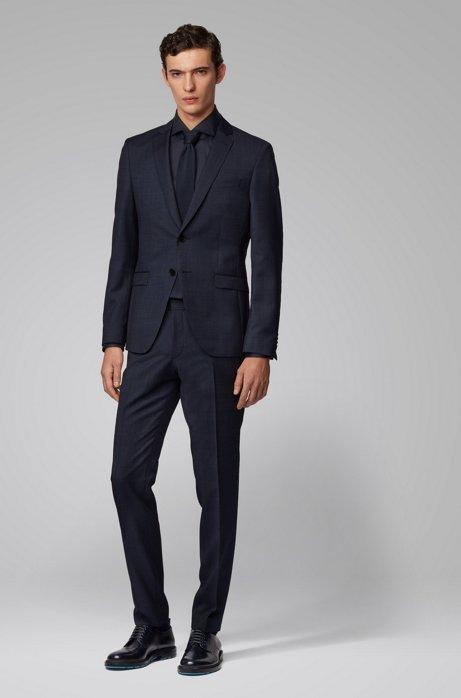 Extra-slim-fit suit in melange virgin wool BOSS   Dresses   50427160402