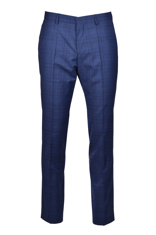 huge genius abito da uomo slim fit lana vergine a quadri - blu BOSS | Abiti | 50427192426