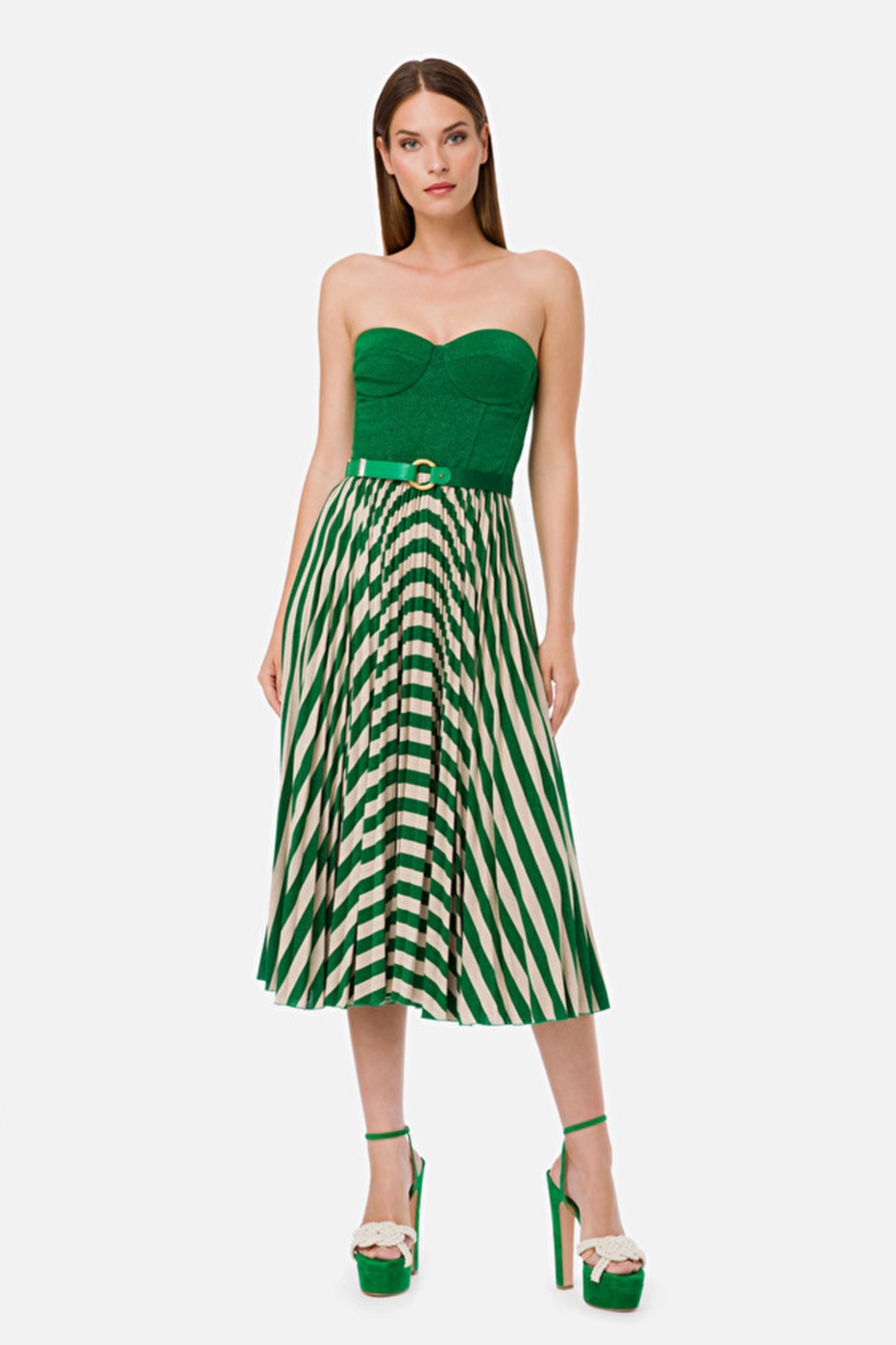 Sleeveless dress with belt ELISABETTA FRANCHI | Dresses | AB18001E2X02
