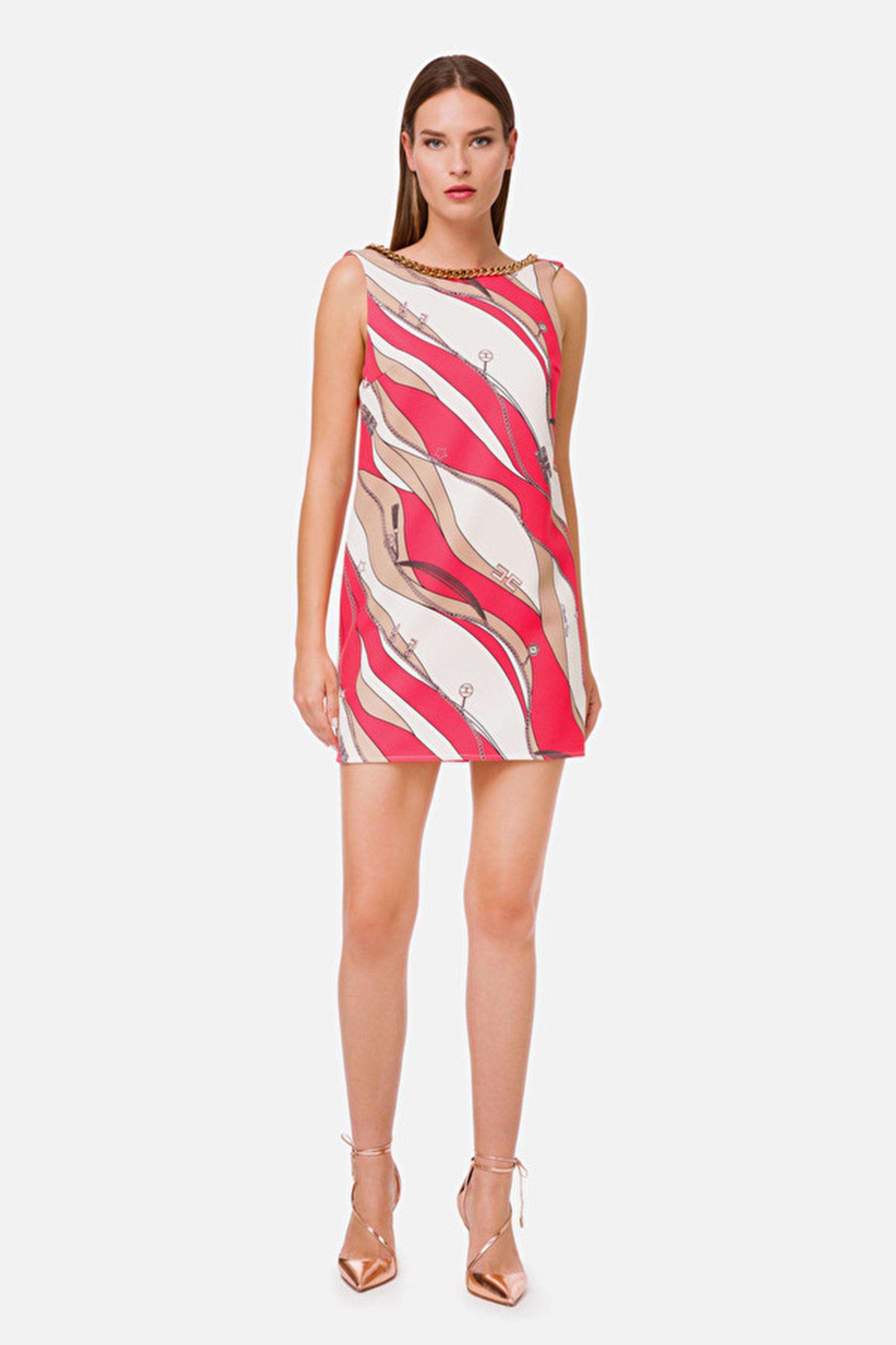 Boxy dress with foulard print ELISABETTA FRANCHI |  | AB20102E2Y73
