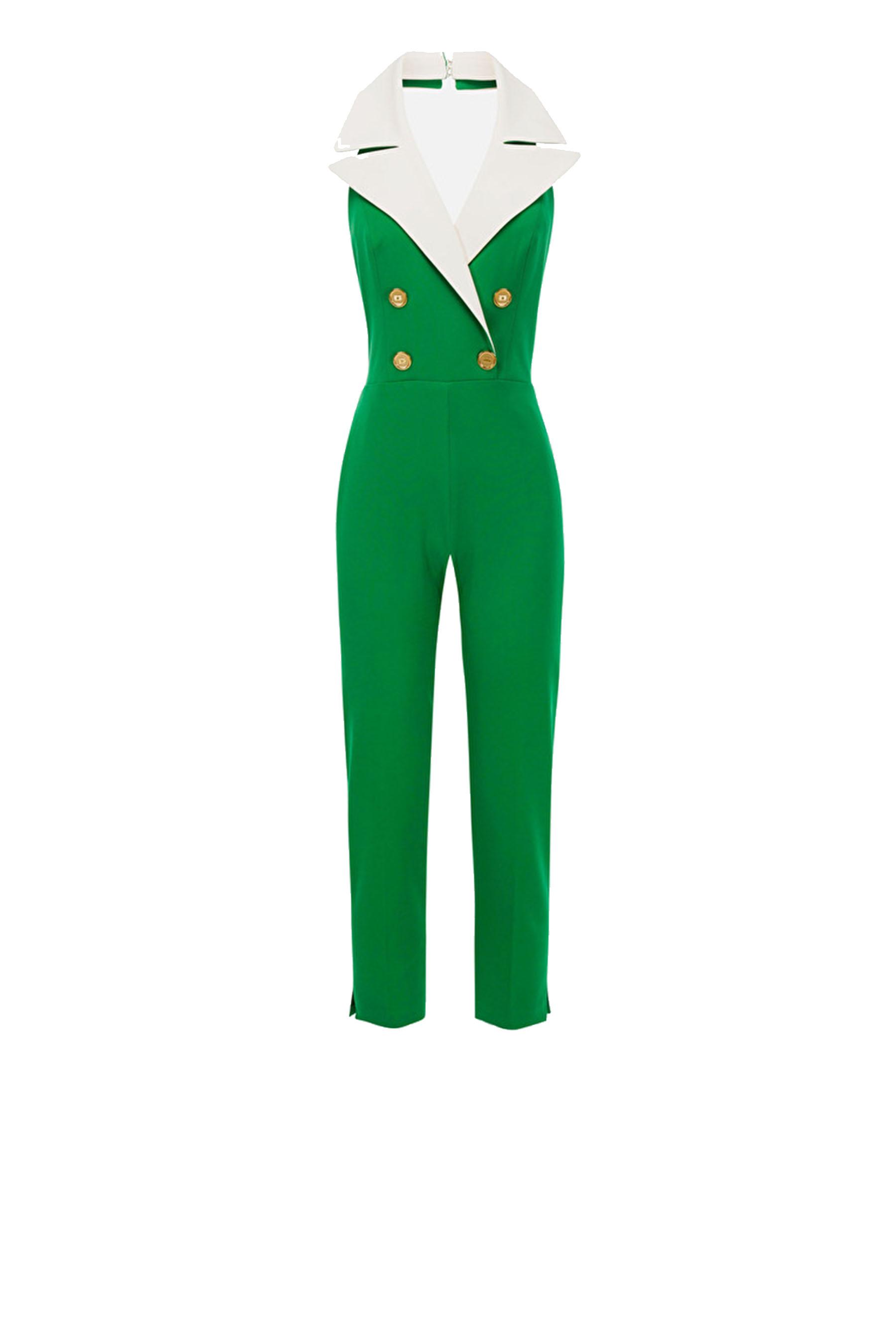 Sleeveless crepe jumpsuit ELISABETTA FRANCHI | suits | TU23902E2Y88