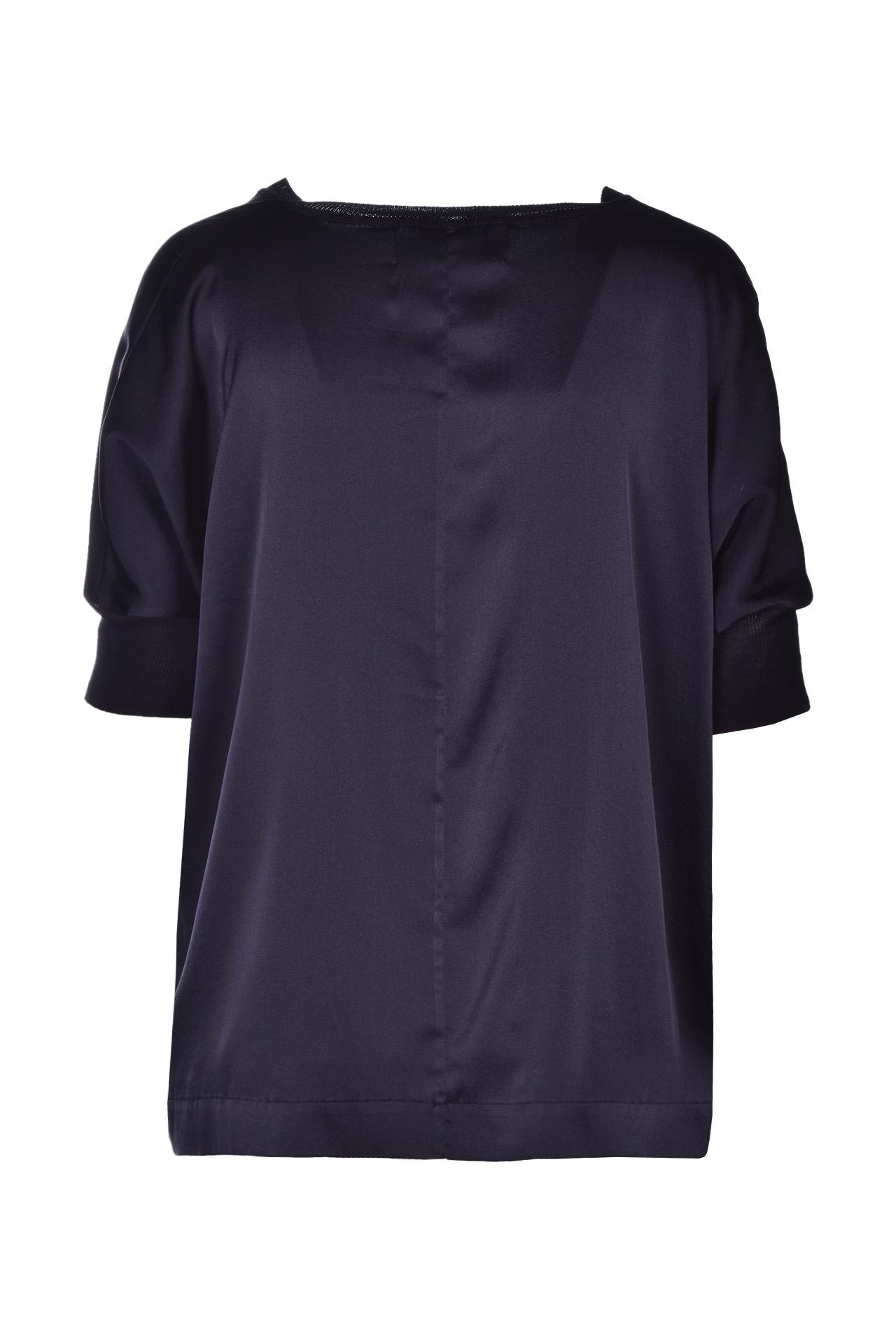Blusa ampia in raso lucido - nero JUCCA | Bluse | J3112118/L003