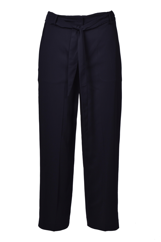 High waist trousers with belt - black JUCCA   Pants   J3114008003