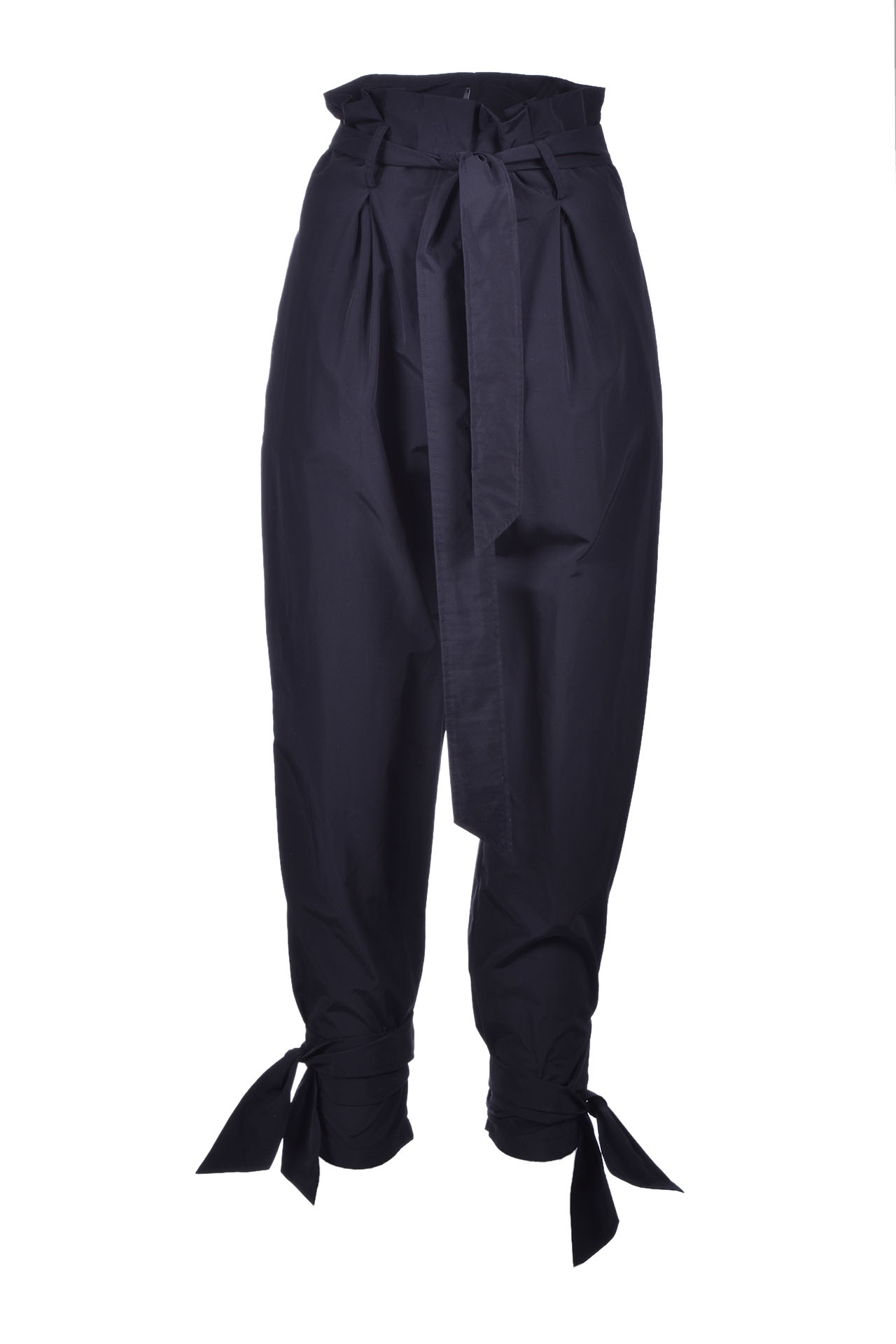 high waist trousers with bows - black JUCCA   Pants   J3114021003